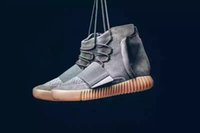 basketball court lights - NEW Boost Light Grey Gum Glow In The Dark Kanye West Shoes Basketball Shoes Sneakers Boost Men Sports Casual Boosts