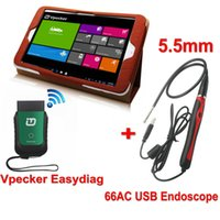 automotive pc diagnostic software - With Tablet PC Vpecker Function As X431 iDiag Easydiag OBD2 Wifi Diagnostic Tool Fit for ALL Cars AC USB Inspection Endoscope