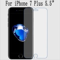 Wholesale Top Quality LCD Clear Tempered Glass Screen Protector For iPhone plus Protective Film Guard