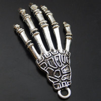 antique devil - 10PCS Antique Silver Alloy Devil Hand Pendant Charms Jewelry Finding mm jewelry making