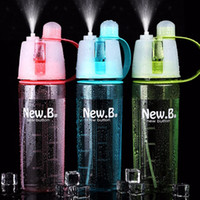 Wholesale 600 ML Sports Spray Bottle Creative Outdoor Professional Spray bottle Sports Water Bottles Portable Summer Big Plastic bottle Sports Cooling