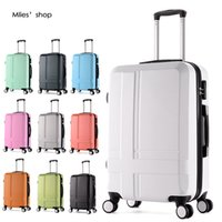Wholesale 22 quot Frosted ABS Hardside Luggages solid trolley travel bags case suitcase universal wheel rolling luggage valise cabine