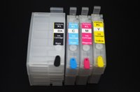 Wholesale 4 pieces T252XL Refillable Ink Cartridge for Epson WF WF WF WF WF7620 printer With Auto reset chip
