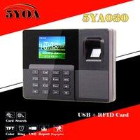 Wholesale Biometric Fingerprint Attendance Time Clock ID Card Reader USB Recorder Employee Electronic Standalone Punch Reader Machine