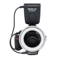 Precio de Anillo de luz led de la cámara-Mcoplus MP MRF32 Flash Macro Flash Flash LED e iluminación continua para fotografía macro Compatible con cámaras Canon Nikon Olympus Pentax