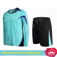 Wholesale Long Sleeve Soccer Jersey Blank High quality polyester fiber can printed number name font No brand long sleeved football clothes