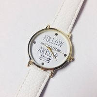 arrow watch - Wholesales Colors Fashion Follow Your Arrow Watches Women Dress Watch Charms Ladies Casual Quartz Watches For Christmas Present
