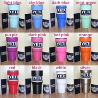 Wholesale 9 Yeti oz Cups Cooler YETI Rambler Tumbler Travel Vehicle Beer Mug Double Wall Bilayer Vacuum Insulated