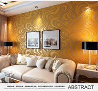 Wholesale New m m wallpaper rolls Papel de parede Sprinkle gold murals damask wall paper roll modern stereo D mural wall paper