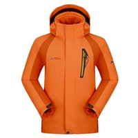 Wholesale 2016 winter men outdoor triple warm waterproof ski suit jacket riding mountaineering camping fishing clothes
