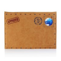 Wholesale PU Leather Letter Post Envelope Style for Macbook Air Slim Fit Sleeve Carry Case Pouch