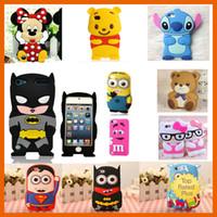 batman blackberry case - 3D Cartoon Case Cover Micky Minie Batman Soft Silicone Mobile Cover for iphone Plus SE S Samsung Note7 S7 J5 J7