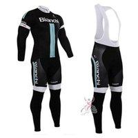 bianchi winter - 2015 Bianchi Cycling Jerseys Set Long Sleeve Autumn Winter Thermal Fleece None Fleece Men Bicycle Clothing Maillot Ciclismo Black Cycling Ki