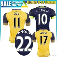 Wholesale 16 Away home RD Jersey WILSHERE OZIL WALCOTT RAMSEY ALEXIS shirt