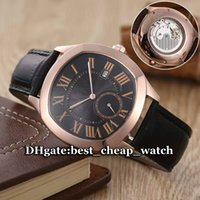 automatic driving - Cheap Luxury Brand Watch New Drive De WGNM0004 Automatic Mechanical Rose Gold Black Dial Leather Strap Men s Watch High Quality Gent Watches