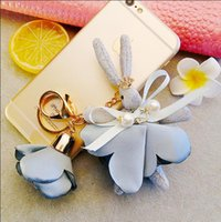 Wholesale Korea jewelry accessories pendant new styleCute Diamond Crown Rabbit Exquisite Bag Key Chain Pendant Key