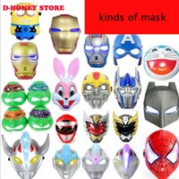 Wholesale LED Glowing superhero cartoon mask for kid adult anime masks party mask halloween masks for adults