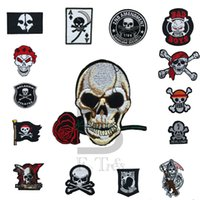 Wholesale Hot Price Large clothing patch DIY Skull Sew applique Iron Patches free shopping Brand DIY Styles clothing free shopping