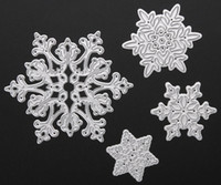 Wholesale Brand New set Metal Snowflake Christmas Cutting Dies Stencils for DIY Die Cut Stencil Decorative Scrapbooking Craft