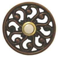 antique brass switches - Resin Veda Doorbell In Antique Brass Doorbell Push button switch