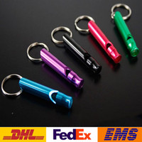 other Alloy Keychain Whistle Whistle Mixed Mini Alloy Keychain Outdoor Survival Whistle Rescue Whistles Dog Training Whistles Outdoor Product Fashion Novelty Gift WX-H05