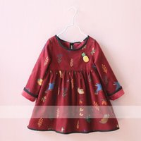 Wholesale 2016 autumn kids clothing for sale cute girl party dress cotton print kids dress fashion children dress y