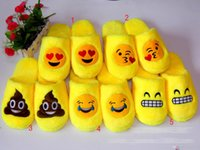 Wholesale 5 style shot sale Emoji Cartoon Plush Slipper Shoes Emoji Soft Warm Household Winter Slippers for women and man