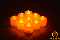 Wholesale 3 cm Battery operated Flicker Flameless LED Tealight Tea Candles Light Wedding Birthday Party Christmas Decoration ZD068B