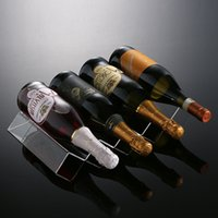 acrylic wine rack - New Clear High Quality Acrylic Countertop Bottle Wine Racks Wine Stand Wine Holders