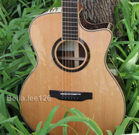 Wholesale New arrival acoustic guitar solid spruce top custom signature OEM handmade acoustic electric guitar
