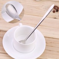 Wholesale Multi Purpos1pcs Stainless Steel Mixing Spoon For Cream Iced Coffee Stainless Steel Spoons hot selling