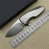 Wholesale Direware HYPER style prybars Tactical Flipper folding D2 steel Titanium handle bearing camping hunting knife outdoor EDC tool