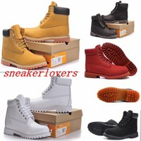 women shoes medium heel - best Martin Boots big yellow Boots Brand Mens Women Genuine Leather Waterproof Outdoor Boots Leather Hiking Shoes Leisure Ankle Boots