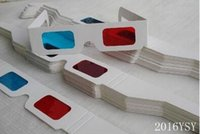 Wholesale new Red Blue lens White paper frame Customizable color D Glasses Stereoscopic Glasses not google Virtual Reality D glasses