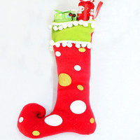 Wholesale christmas decorations gifts stockings boots Fashion and contracted Children s old man suit new high quality Support