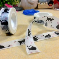 Wholesale 15mm m Adhesive Tapes washi tapes cute style antistatic freon proof for bag seseling masking to sell