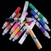 Wholesale 12 Color D DIY Drawing Paint Painting Pen Nail Art Tips Design Gel Acrylic K00056 SMAD