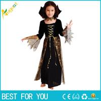 Livraison gratuite Hot 2016 Nouveau Belle Araignée Fille Enfants Cosplay Costume Hallowean Party Costumes de sorcière pour enfants mignons robes