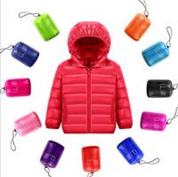 Wholesale AML70 New Arrivals Unisex Kids ULTRA LIGHT DOWN Coat Girl Boy s Winter Outwear Down Coat Real Real Down Coat kids boys coat