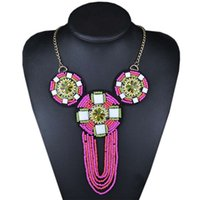 beaded payment - Critical payments act the role ofing Bohemia national wind m bead weaving beach tourist necklace necklace