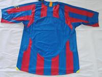 Wholesale 2006 UCL final barcalona home jerseys vantage jerseys Retor jerseys classic shirts Ronaldinho Messi Larsson Puyol Abidal Deco Xavi A Iniesta