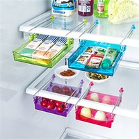 Wholesale Refrigerator Shelf Slide Fridge Freezer Refrigerator Storage Rack Holder Refrigerator Storage Box TIC Rack Colors Space Save Kitchen Room