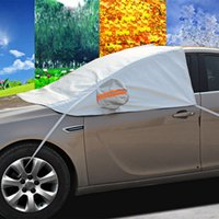 Wholesale Car Half Cover Sunshade Waterproof Styling Foil Thicken Snow Shield Anti UV Vehicle Protection Covering SALOON CAR Universal