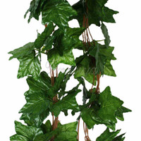 Wholesale 10pcs Artificial Plants Big Leaf Sleaf Ivy Vine Garland Hanging Plants Fake Foliage Flowers Wedding Party Home Garland Decorations feet