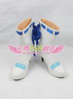 achat en gros de hatsune miku chaussures-Vente en gros-VOCALOID Hatsune Miku talon haut bottes cosplay blanc chaussures bottes chaussures # CQ100 anime Halloween Noël