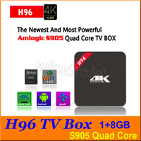 Wholesale 4K ultra HD H96 Smart TV Box Amlogic S905 Quad Core Bit HDMI Android TV Box Full HD P KODI Wifi Media Player Set top box cheap