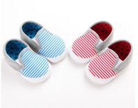 Cheap Baby striped casual shoes 2016 cheap kids toddler shoes new non-slip wear soft-soled shoes boys spring & autumn 12pair 24pcs B3