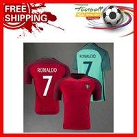Wholesale 2016 top Thai version of Portugal soccer Jersey Portugal European Cup C Ronaldo Nani football shirt