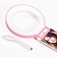Wholesale Benss Portable phone led light selfie phone camera led ring light for iPhone plus s s s Samsung Sony Motorola Pink