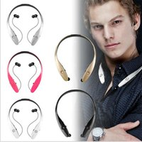 Wholesale 2016 Newest HBS900 Wireless Bluetooth Sport Stereo Headset headphone With MIC Neckband Style for iPhone Samsung LG HTC